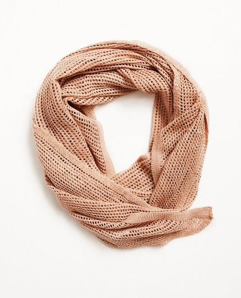 Écharpe, tricot ajouré Pieces - fil métallisé - Pieces