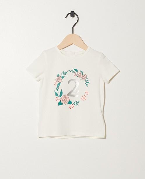 T-shirt verjaardag - 2 jaar - met glitterprint - JBC