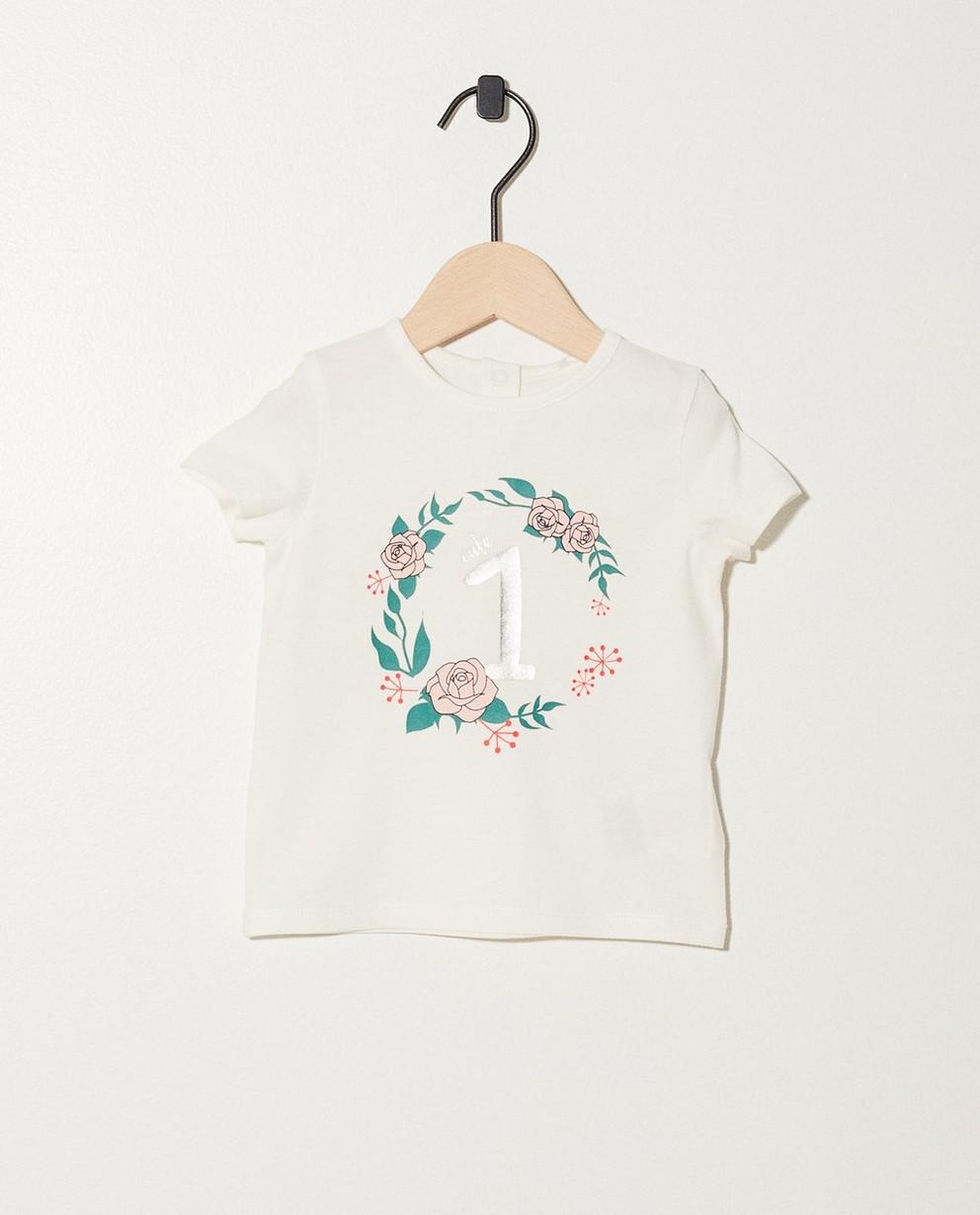 T-shirt anniversaire - 2 ans, imprimé à paillettes - JBC