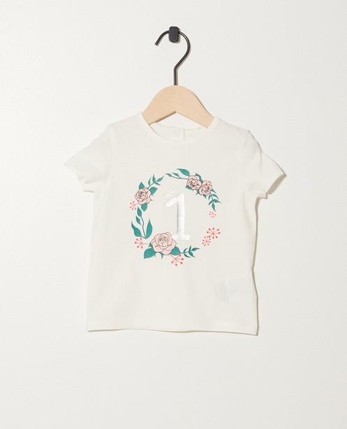 T-shirt anniversaire - 1 an, imprimé à paillettes - JBC