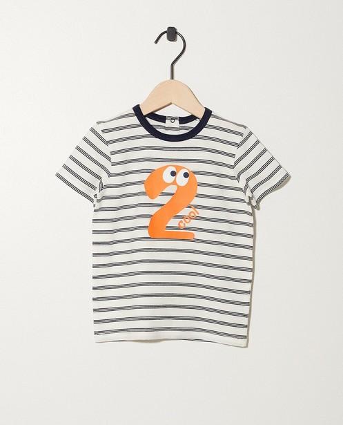 T-shirt verjaardag - 1 jaar - met strepenprint - JBC