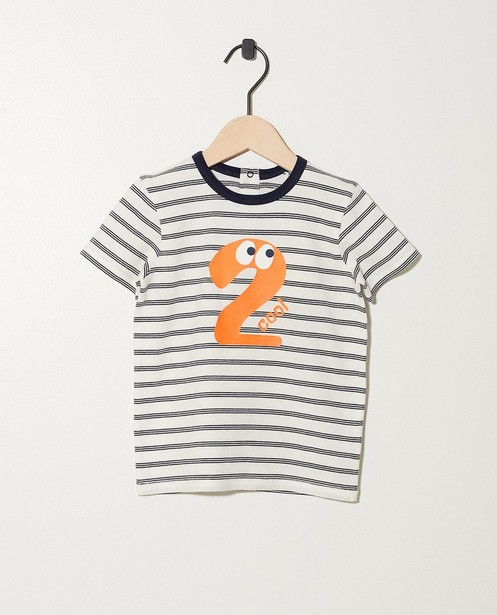 T-shirt anniversaire - 1 an, rayé - JBC