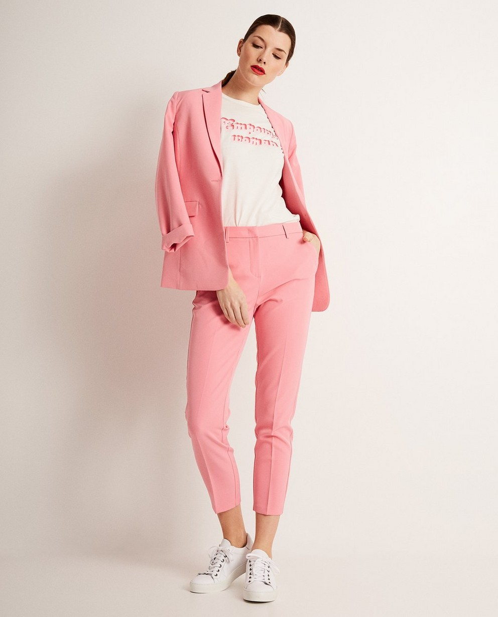 Roze halflange blazer - met klepzakken - JBC