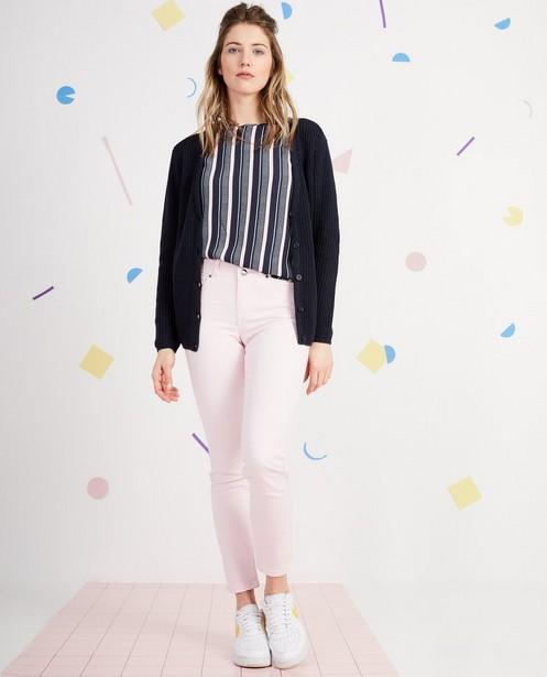 Gilet tricoté, col en V - uni - JBC