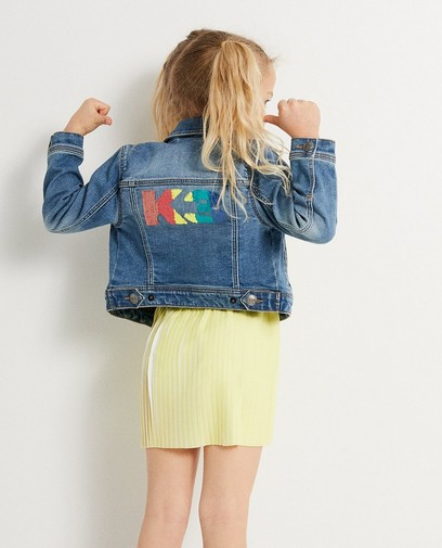 Jeansjacke mit Pailletten K3