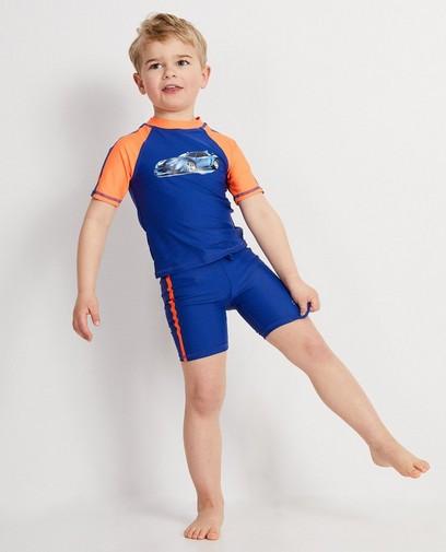 Donkerblauw zwempak met print Rox