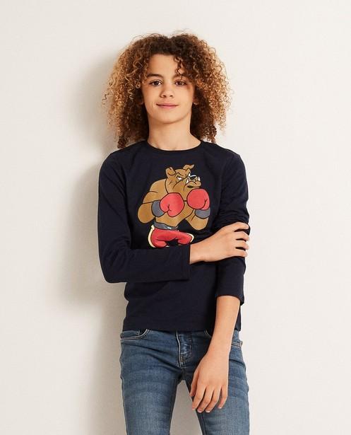 T-shirts - BLD - Nachtblauwe longsleeve