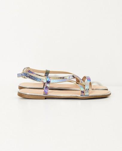 Sandales, imprimé brillant