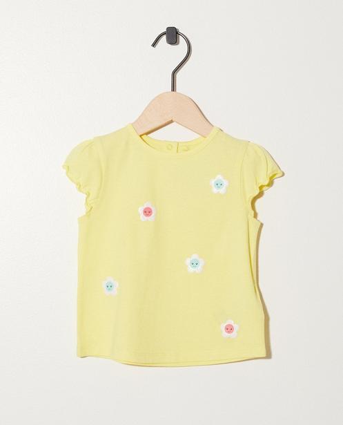 T-shirt fleuri - En jaune - Newborn