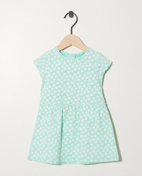 Robe, imprimé floral en coton bio - En vert - Newborn