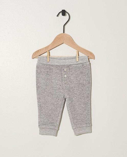 Pantalon évolutif gris - coton bio - Newborn