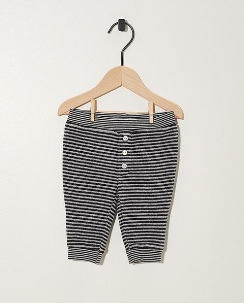 Pantalon évolutif rayé - noir et gris - Newborn