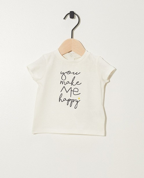 T-shirt, inscription - coton bio - Newborn