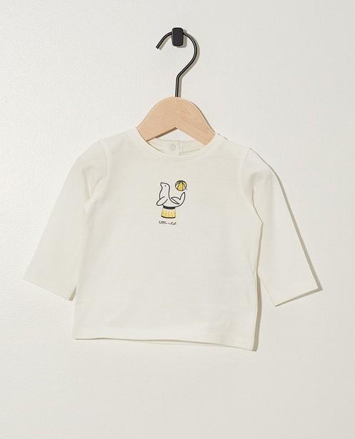 T-shirt à manches longues - imprimé animal, coton bio - Newborn