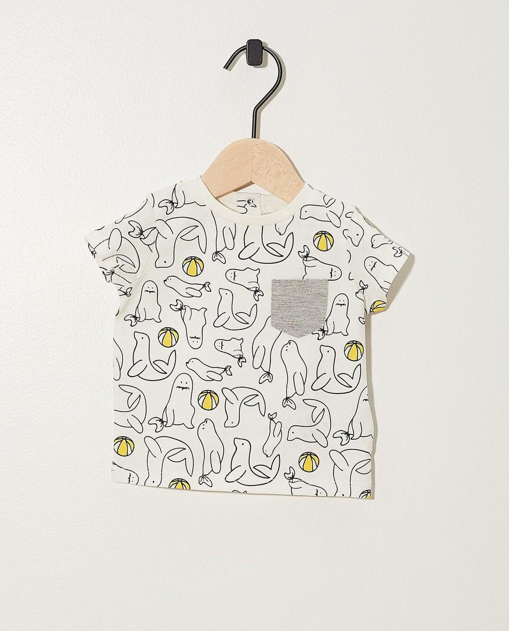 T-shirt, imprimé animal - coton bio - Newborn