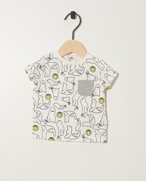 T-shirt, imprimé animal - coton bio - Newborn