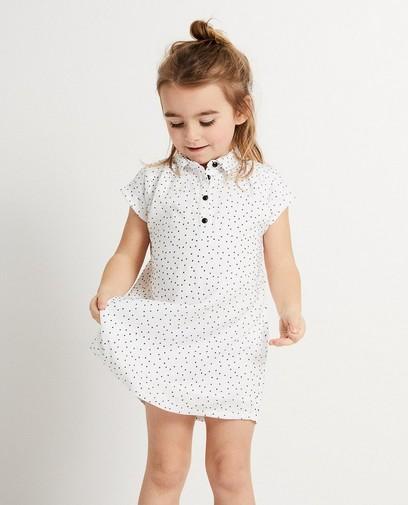 Wit kleedje met dotprint