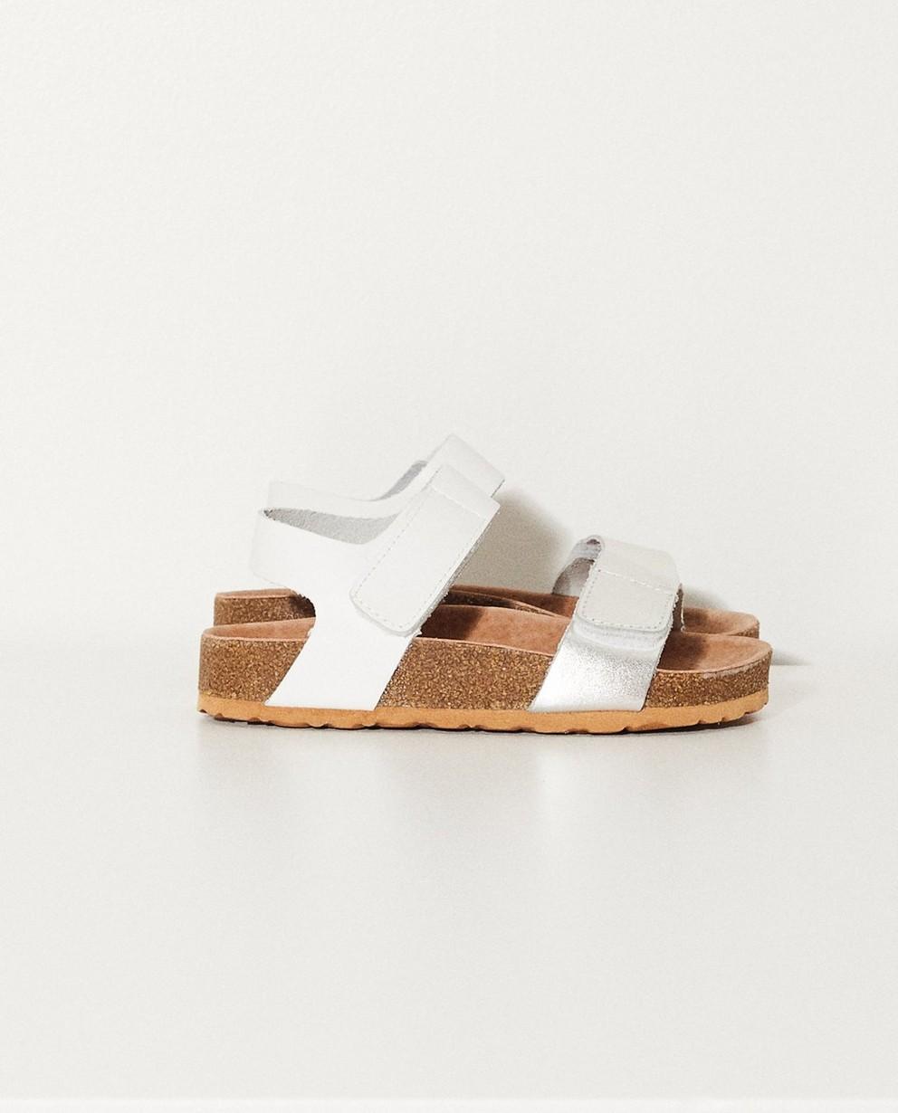 Sandales en cuir - blanches - JBC