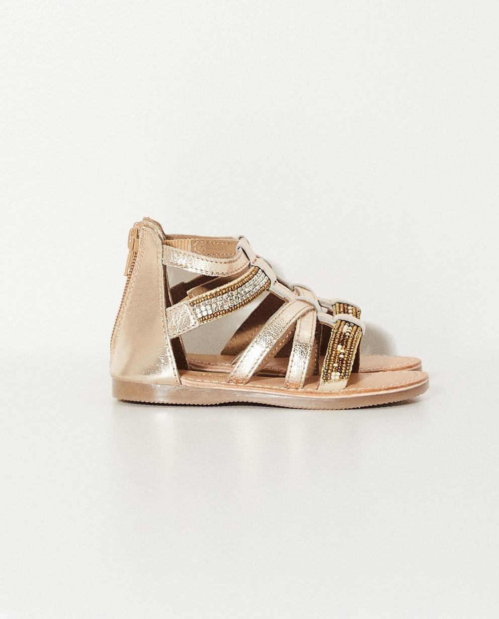 Sandales dorées - petites pierres - JBC