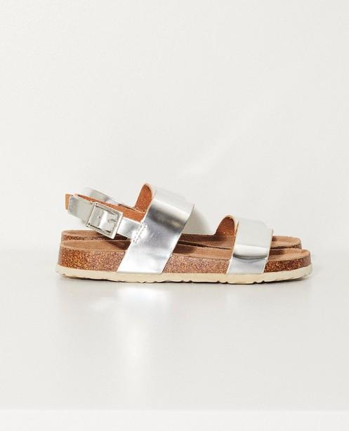 Sandales, revêtement - argenté et semelle en liège - JBC