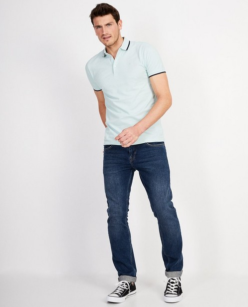 Lichtblauwe polo Slim fit  - In lichtblauw - JBC