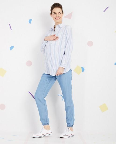 Pantalon de grossesse JoliRonde - lyocell, bleu - Joli Ronde