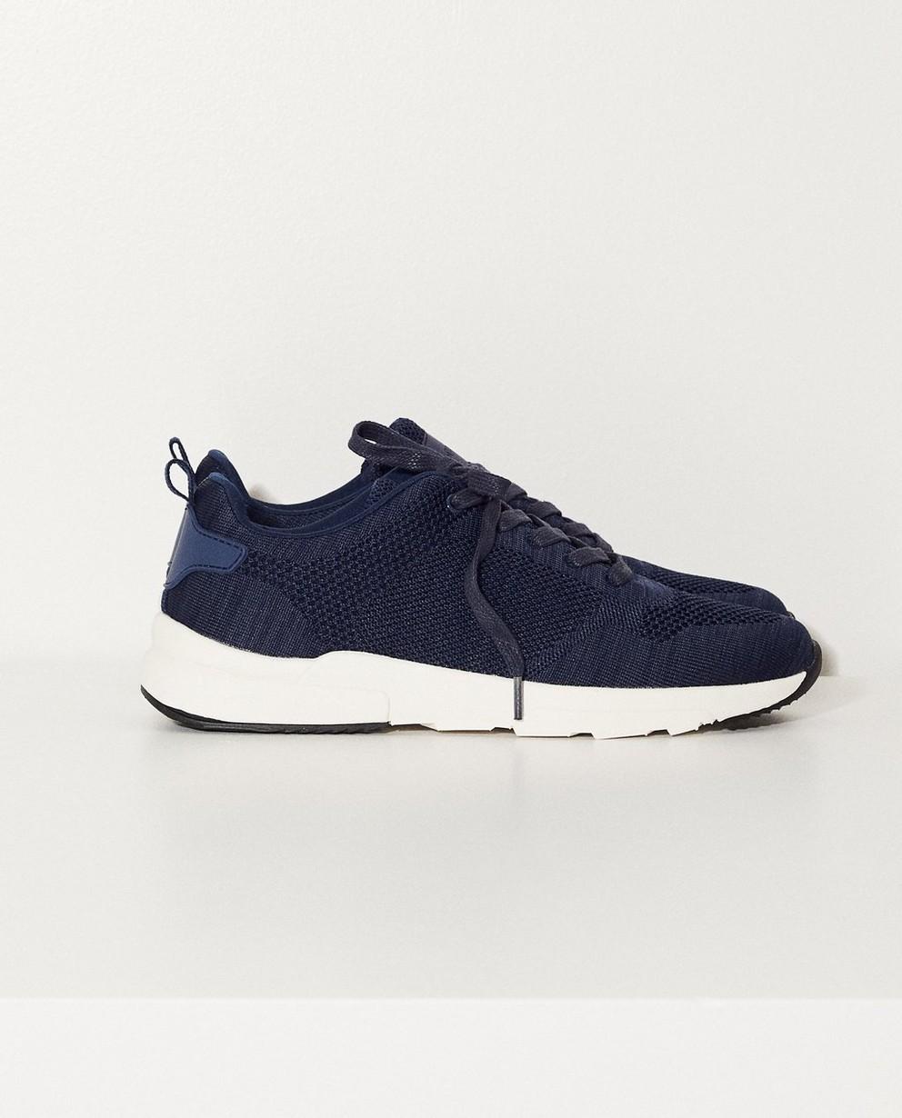 Donkerblauwe sneakers - Met witte zool - JBC