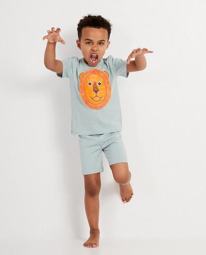 Pyjama gris, tête de lion
