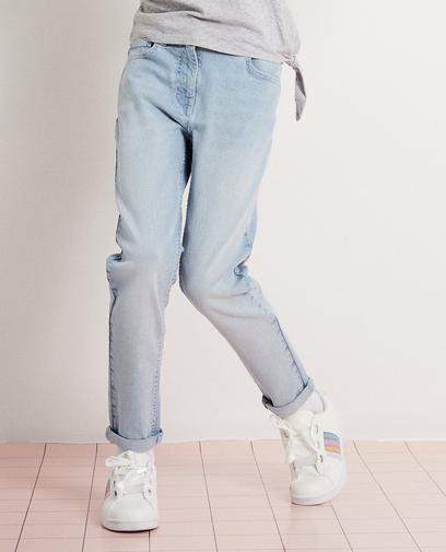 Lichtblauwe stretchjeans