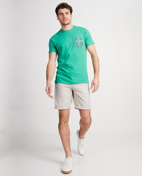 T-shirt vert Hampton Bays - poche de poitrine décorée - Hampton Bays