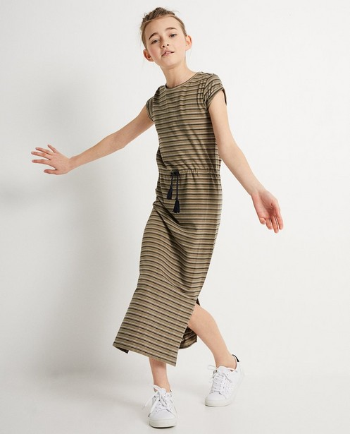 Maxi-jurk met strepenprint BESTies - BESTies - Besties