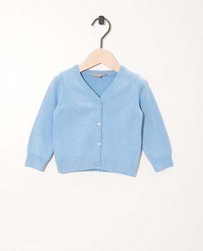 Blauw vestje met knoopjes