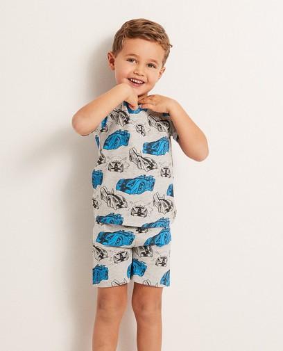 Grauer Schlafanzug mit Print Rox