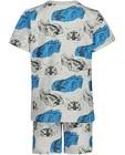 Nachtkleding - Grijze pyjama met print Rox