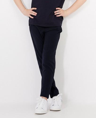 Blauwe geklede broek met streep