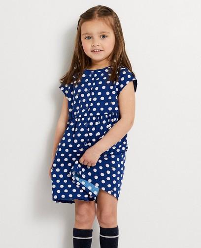 Blauwe jurk met stippen Kaatje