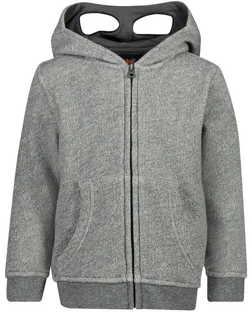 Cardigans - light grey - Grijze sweatvest Wickie