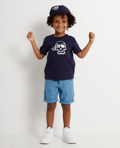 Set Piet Piraat T-shirt + bandana - Met print - Piet Piraat