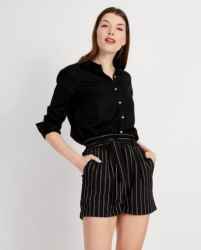 Zwart hemd van linnen
