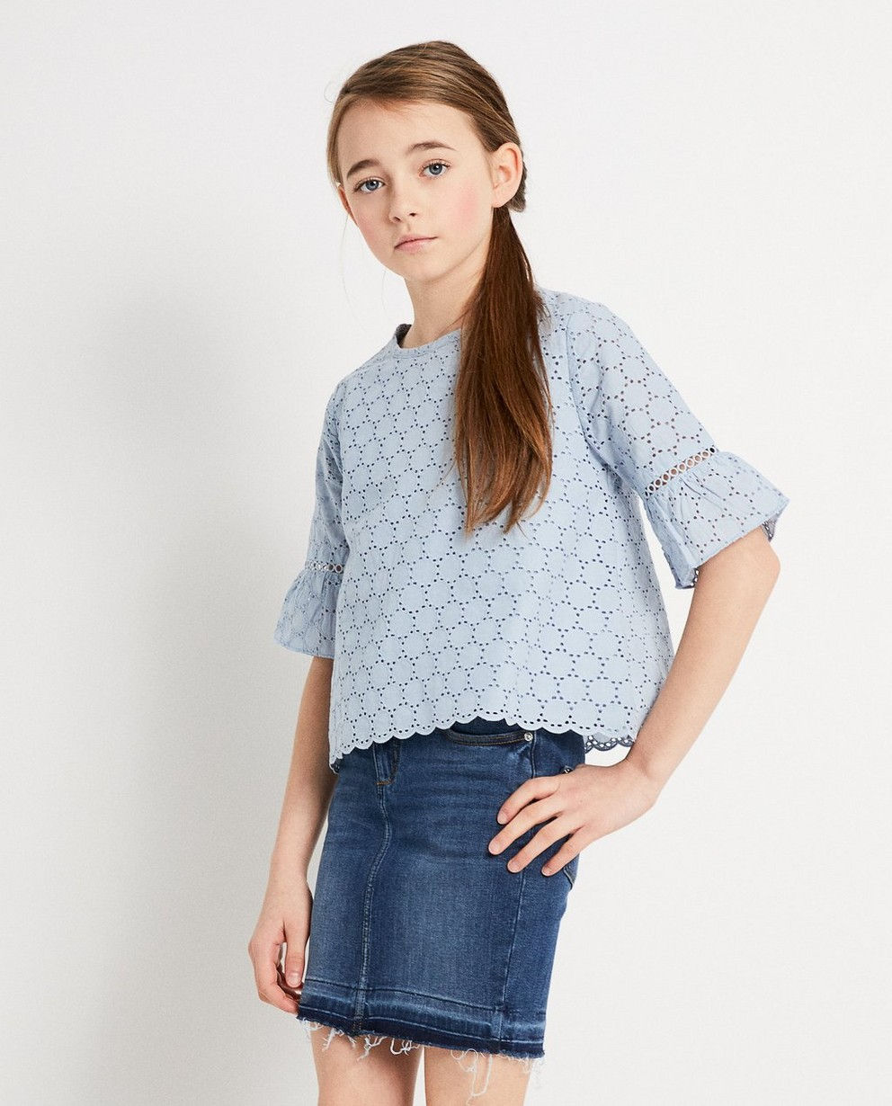 Hemden - BLM - Blauwe blouse Katja Retsin