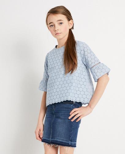 Blauwe blouse Katja Retsin