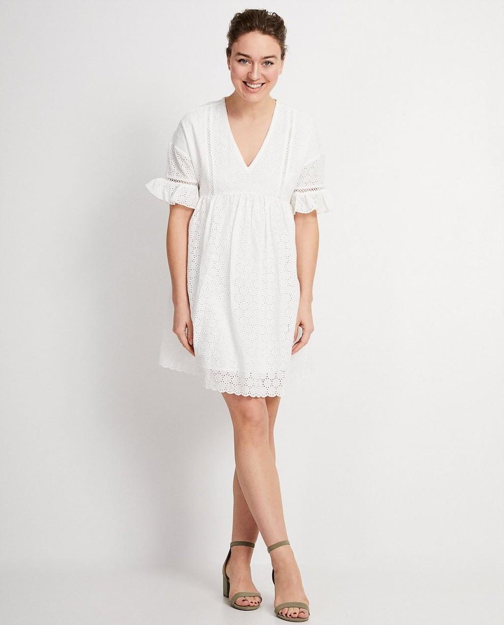 Wit kleedje Katja Retsin - met ruches aan mouw - Katja Retsin