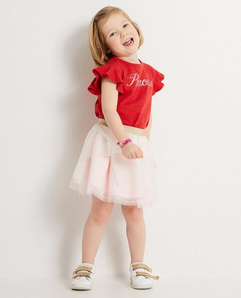 Jupe en tulle rose Prinsessia  - Avec taille dorée - Prinsessia