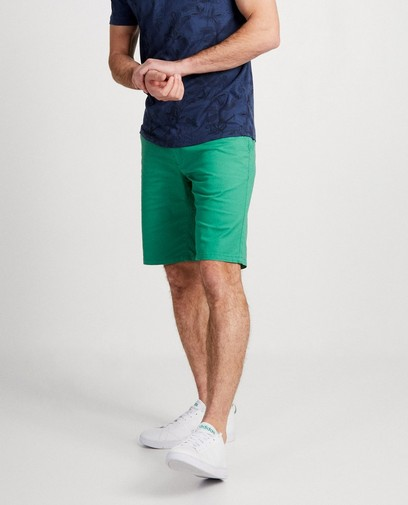 Groene short met riem Hampton Bays
