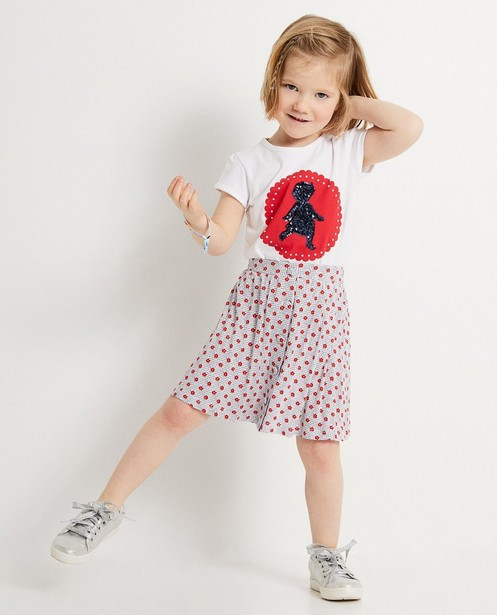 T-shirt met print Heidi - en pailletten - Heidi