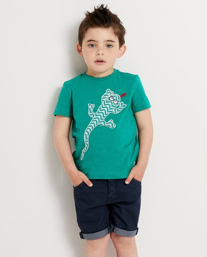 Groen T-shirt met print Kaatje