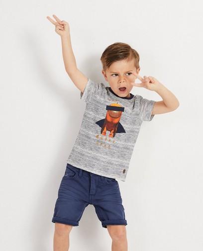T-shirt met print Wickie