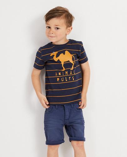Blauw T-shirt met strepen Wickie