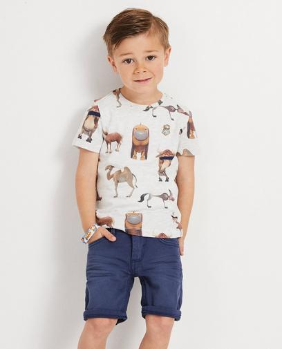 Grijs T-shirt met dierenprint Wickie