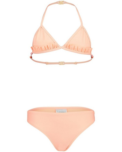 Bikini orange fluo, perles - ruches et liens - JBC